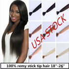 USA STOCK!22 inch Remy Stick Tip Human Hair Extensions 50g 3-5 days delivery!