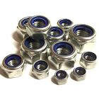 MARINE GRADE A4 Stainless T Type Nyloc Nylon Nuts To Suit Metric Bolts & Screws
