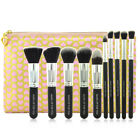 10pcs Eye Makeup Foundation Brushes Set Cosmetic Blush Face Powder Brush Kit