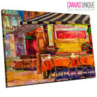 AB667 Orange Contemporary Café Art Abstract Canvas Wall Art Framed Picture Print