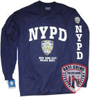 NYPD Shirt T-Shirt Officially Licensed by The New York City Police Department LS