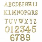 1.5 - 2 Inch Self Adhesive Numbers & Letters Polished Brass (Solid Brass)