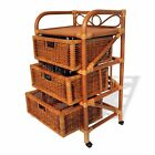 Laundry Designer Rattan Wicker w/ 3 Drawers Color Cognac