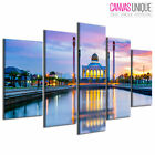 PC1012 Blue Taj Mahal Photograph Scenic Multi Frame Canvas Wall Art Print
