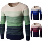 Men Casual Round Neck Fashion Knit Sweater Pullover Knitwear Jumper Coat Tops