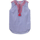 Joules Womens Otille Vest Top Ikat and Starfish Design Size 8 & 10