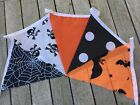 Cotton Bunting Handmade Halloween Party Spooky Spider Web Bats Mix
