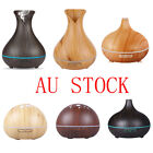 Wooden Aroma Mist Diffuser Essential Oil Ultrasonic Humidifier Air Purifier AU