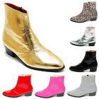 Epicsnob Mens Shoes Genuine Cow Leather Dress Chelsea Gold Ankle Boots
