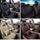 seat covers toyota highlander - US L Size PU Leather Seat Covers 5-Seats Car SUV Front+Rear w/ 4pc Free Pillows