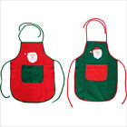 Christmas Holiday Adult Size Red/Green Non-woven Fabric Christmas Apron 1PC NEW