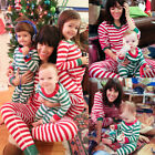 Christmas Striped Pyjamas Matching Family Nightwear Adult Mum Baby Kids Pajamas