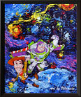 Space Toy Story Poster Van Gogh Starry Night Wall Decor Canvas Art Print A084