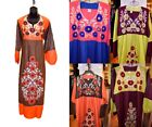 Lot 6 Embroidered Kaftan Caftan Dress Egyptian Arabic Abaya Jilbab S M L XL 2X