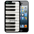 PERSONALIZED RUBBER CASE FOR iPHONE X 8 7 6S SE 5C 5S PLUS PIANO KEYS MUSIC