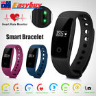 Bluetooth4.0 Smart Watch HeartRate Monitor Sport Fitness Pedometer Bracelet Band