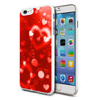 For Various Phones Design Hard Back Case Cover Skin - Bright Red Heart Fusion