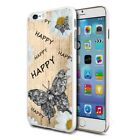 For Various Phones Design Hard Back Case Cover Skin - Happy Butterfly