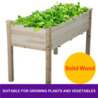 Wooden Vegetable Raised Garden Bed Patio Backyard Grow Flowers Plants Gardening