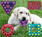 Kong Dotz - Dog Puppy Textured Durable Bouncy Rubber Toy - Cleans Teeth & Gums