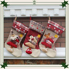 New Christmas Sock Santa Claus Snowman Reindeer Xmas Decoration Tree Ornament