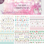 Dear Christmas Nail Art Stickers Water Transfer Reindeer Snowman X'mas Tree