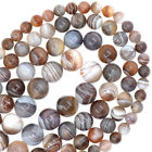 """Natural Grade AAA Smooth & Faceted Botswana Agate Gemstone Round Beads 15.5"""""""