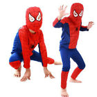 Toddler Kids Boys Spiderman Hooded Coat Sweatshirt T-Shirt Pants Pajamas Outfits