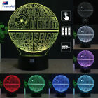 Star Wars Death Star 3D LED Night Light USB Battery Touch Base Table Lamp Gifts $22.99 AUD