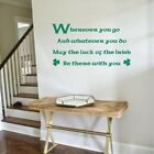 quotes of trees - LUCK of IRISH Blessing Wall Quote Decal Vinyl Home Decor