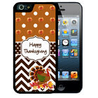 THANKSGIVING RUBBER CASE FOR iPHONE X 8 7 6S SE 5C 5S PLUS TURKEY CHEVRON FALL