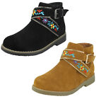 Wholesale Girls Flat Ankle Boots 14 Pairs Sizes 10-2  H5072
