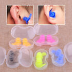 Pair Silicone Waterproof Swimming Spiral Earplugs Ear Plugs Adult Kids Protector