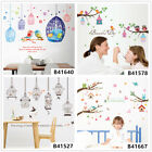 Colorful Bird House Home Room Decor Removable Wall Stickers Decals Decorations