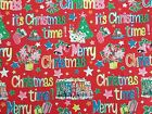 Merry Christmas Time Red, Cath Kidston 100% Cotton Duck Fabric per metre