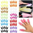 10PCS Plastic Nail Soak Off UV Gel Art Polish Remover Wrap Gelish Clip Cap TS