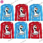 Kids Boys Knitted Jumper Girls Christmas Snowman Olaf with Kids Xmas Sweater Top