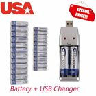 LOT AA 3000mAh + AAA 1000mAh 1.2V NI-MH BTY rechargeable battery 2/3A O6