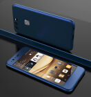 360° Full Hybrid Case Cover + Tempered Glass For Huawei Honor 8 P9 P10 Lite Plus