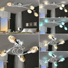 LED Chrome ceiling light dimmable RGB REMOTE CONTROL 3D effect glass spotlight