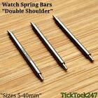3 x Watch Strap/Bracelet Strong 1.7mm Double Shoulder Spring Bars/Pins 5-40 mm
