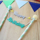 Happy Birthday Cake Cupcake Bunting Banner Flag Food Topper babyShower Party FL