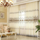 Customized curtain Luxury curtain head embroider pleated drapes tulle sheers new cheap