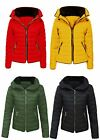 BRAND NEW GIRLS QUILTED PADDED JACKET WITH GOLD ZIP & POCKETS S M L XL