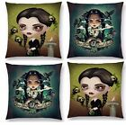 WEDNESDAY ADDAMS CUSHION COVER SINGLE SIDE ADDAMS FAMILY WOVEN