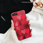 New Luxury Fashion Retro Wine Red Love hard Case Cover For iPhone8 X 7 Plus 6 6s