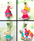 PEPPA PIG TROLLS POPPY CARTOON NECKLACE ACRYLIC CHARM PENDANT REBECCA RABBIT