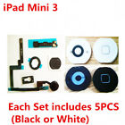 (1 Set) Home Button Flex Cable Gasket Bracket for iPad Mini 1 2 3 4 Air 1 2