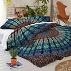 Indian Comforter Mandala Duvet Doona Cover Hippie Bohemian Queen Quilt Cover Set