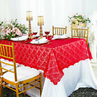 """Wedding Linens Inc.54"""" x108"""" Rectangular Lace Table Overlays Toppers Tablecloths"""